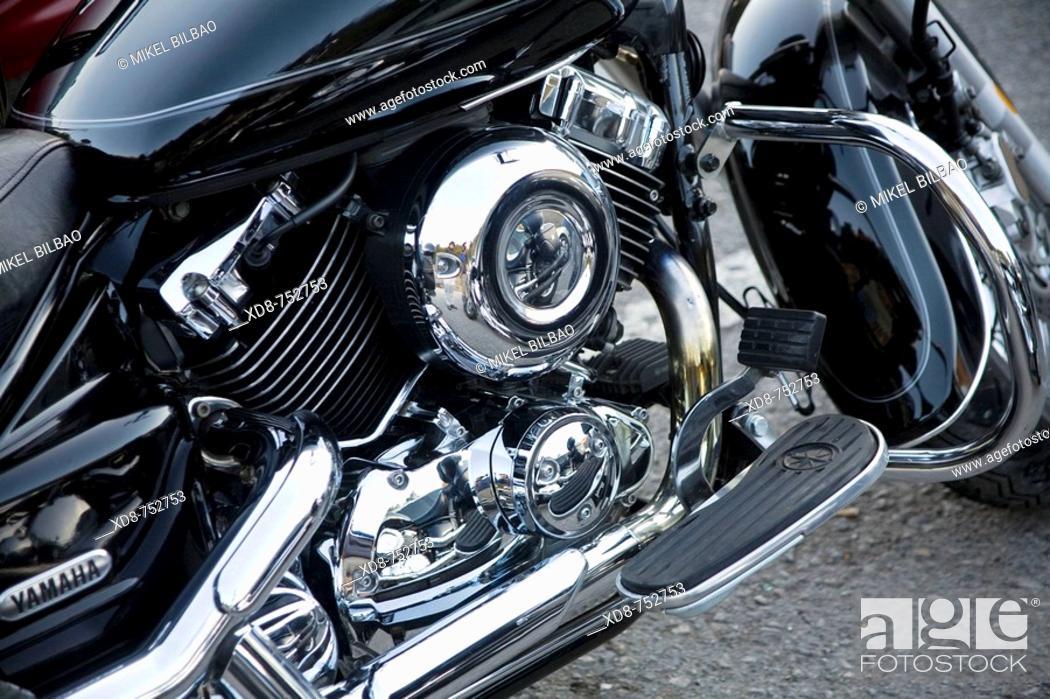 Stock Photo: Motorbike engine.