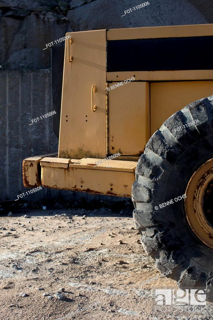 Stock Photo: Detail of a heavy equipment vehicle.
