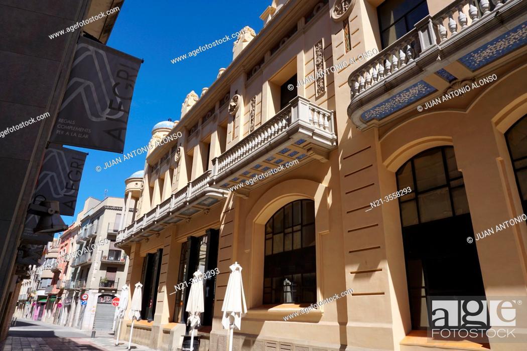 Stock Photo: Casino Menestral. City of Figueres, Girona, Catalonia, Spain, Europe.