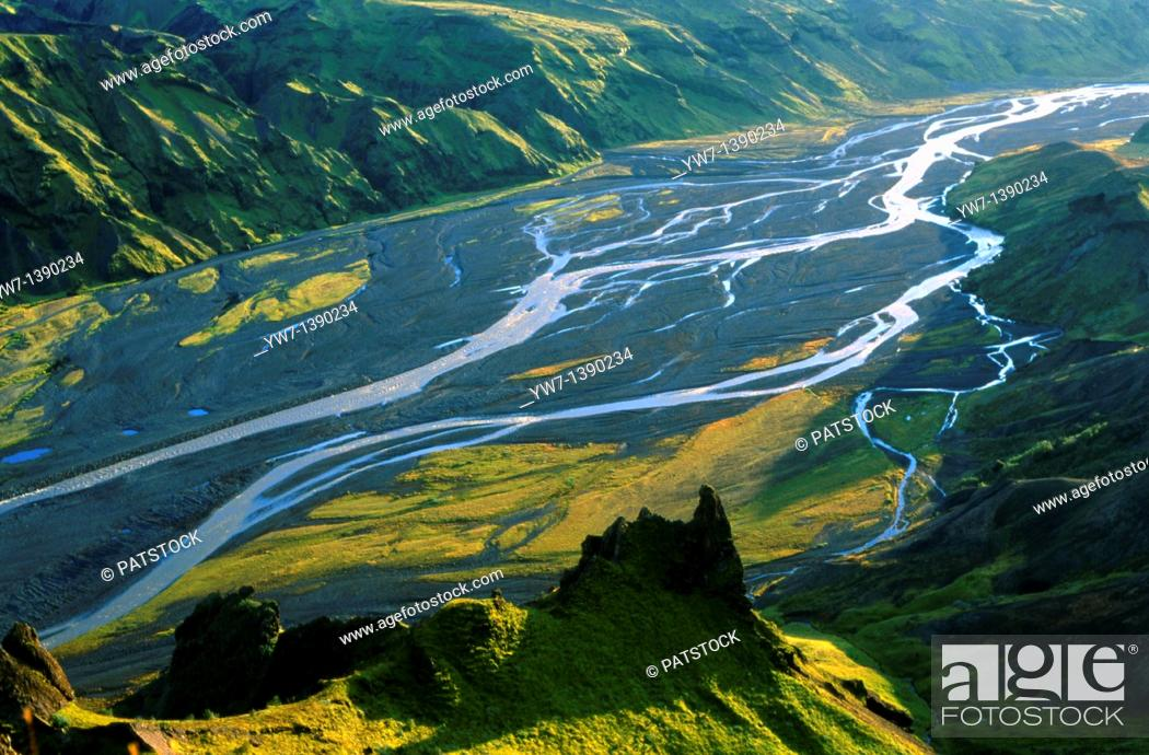 Stock Photo: Porsmork Valley, Iceland.