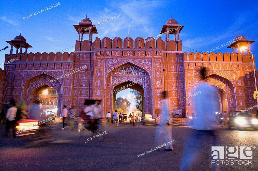 Stock Photo: Ajmeri Gate  Jaipur  Rajasthan.