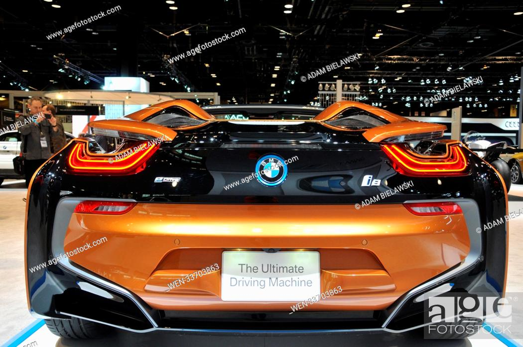 Stock Photo The 2018 Chicago Auto Show Press Preview At Mccormick Place In Il Usa Featuring Bmw I8 Where Illinois United States When