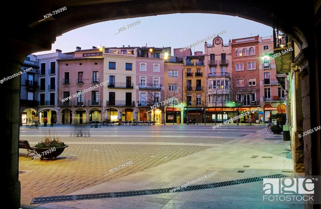 Stock Photo: Main Square, Igualada. Anoia, Barcelona province, Catalonia, Spain.