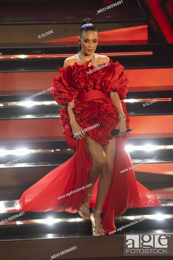 Imagen: Elodie at the second evening of the 71 Sanremo Music Festival. Sanremo (Italy), March 3rd, 2021.
