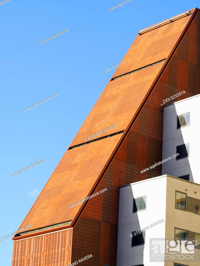 Stock Photo: Stratford ONE building student accomodation - East London, England.