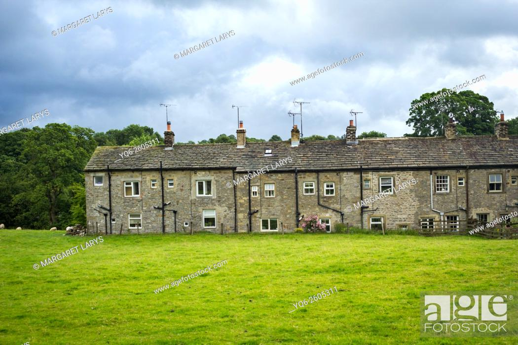 Stock Photo: Airton, a small village in Yorkshire, Yorkshire Dales, England, UK.