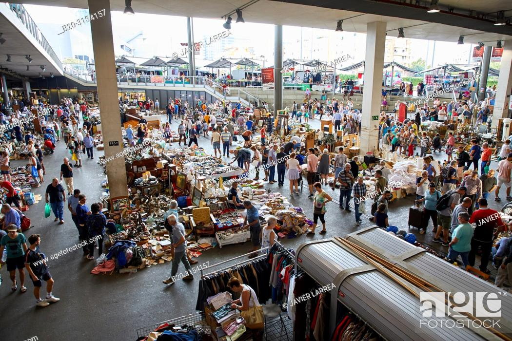 Stock Photo: Encants Market, Plaça de les Glòries, Barcelona, Catalunya, Spain, Europe.