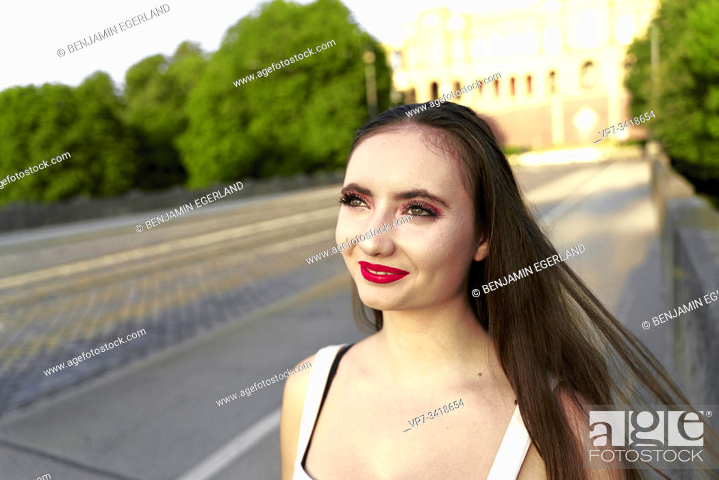 Stock Photo: Young woman close-up.