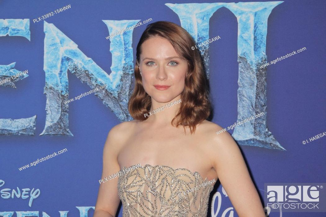 """Stock Photo: Evan Rachel Wood 11/07/2019 The World Premiere of """"""""Frozen 2"""""""" held at the Dolby Theatre in Los Angeles, CA. Photo by I. Hasegawa / HNW / PictureLux."""