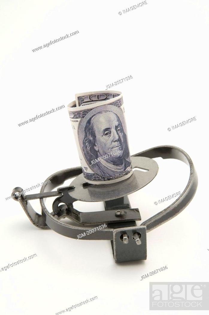 Stock Photo: Paper Currency on a Trap.