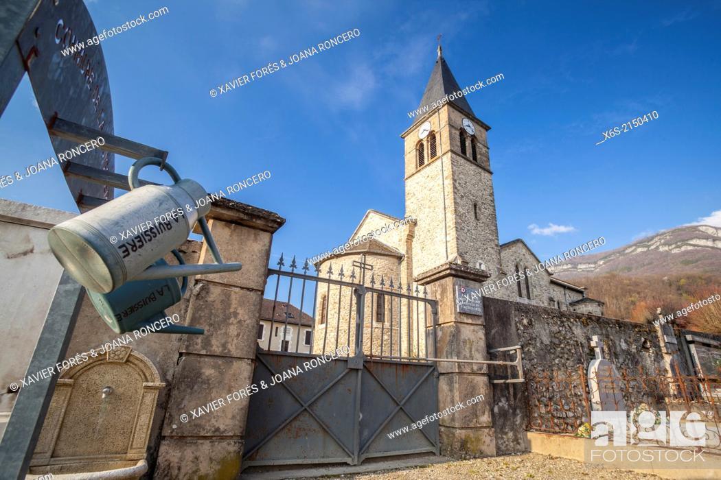 Stock Photo: La Buissière, Savoie, France.