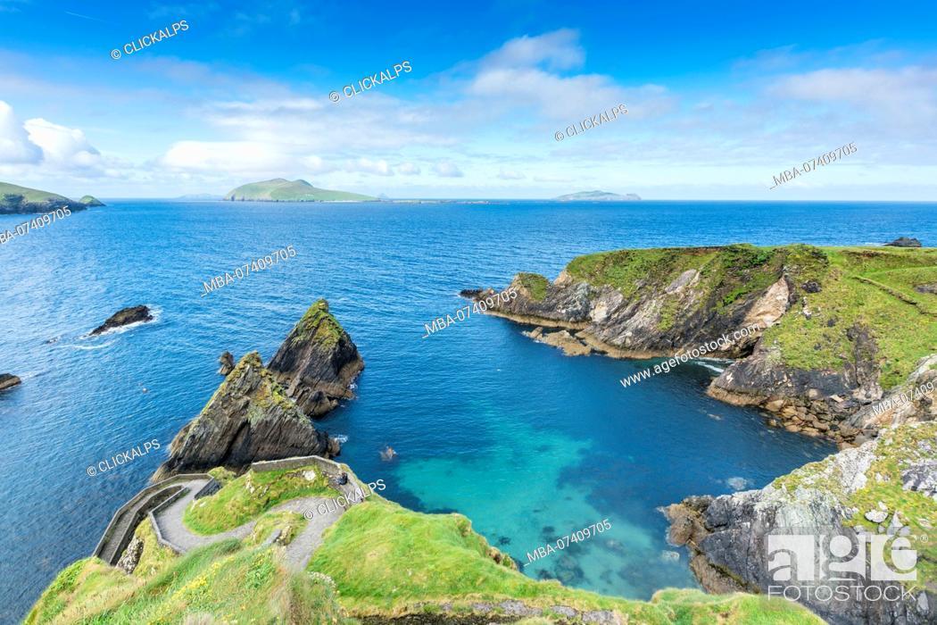 Stock Photo: Dunquin pier, Dingle peninsula, County Kerry, Munster province, Ireland, Europe.