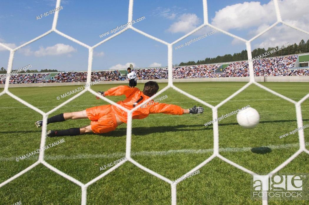 Stock Photo: Penalty Kick.