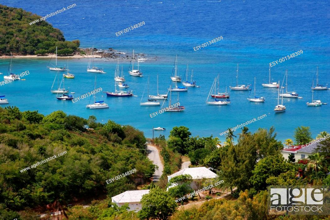 Stock Photo: Falmouth bay, Antigua.