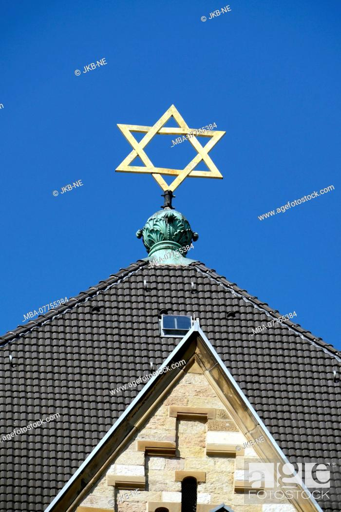 Stock Photo: Germany, North Rhine-Westphalia, Cologne, Roonstrasse, synagogue, Star of David, detail.