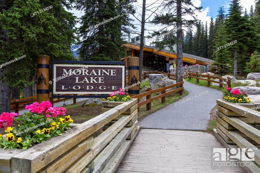 The Moraine Lake Lodge Sign In Banff National Park Alberta