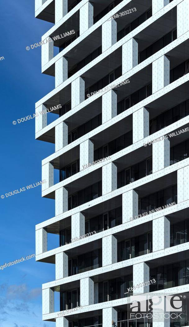 Stock Photo: Vancouver House, a tower under construction in Vancouver, BC, Canada. Design by Bjarke Ingels Group Architects.