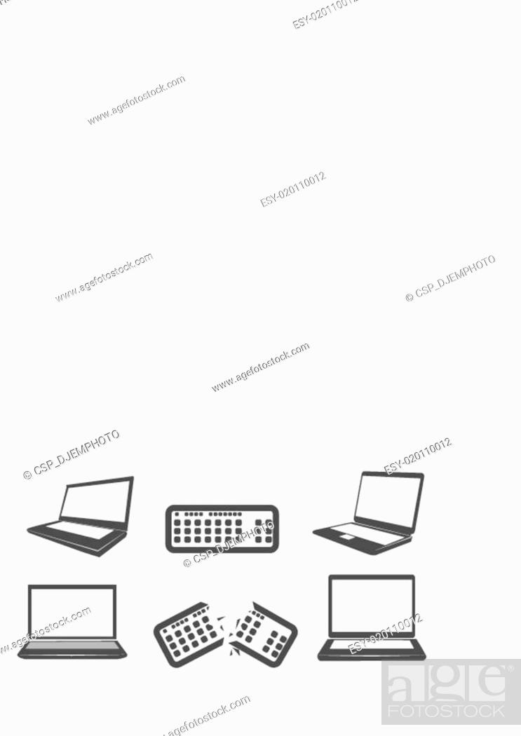 Stock Vector: Illustration of computer icons.