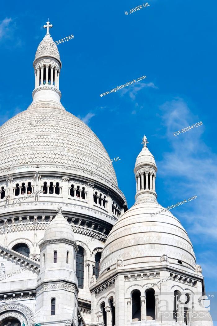 Stock Photo: The Sacre-Coeur, Montmartre, Paris, France.
