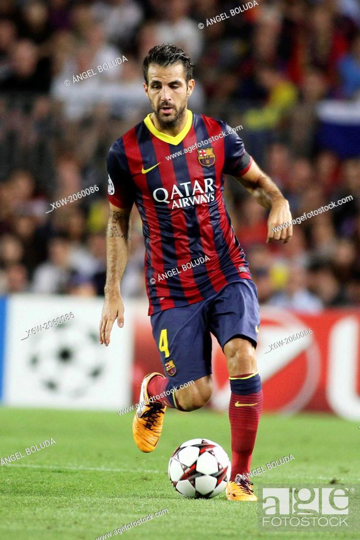 Stock Photo: FC Barcelona. Cesc Fabregas in action.