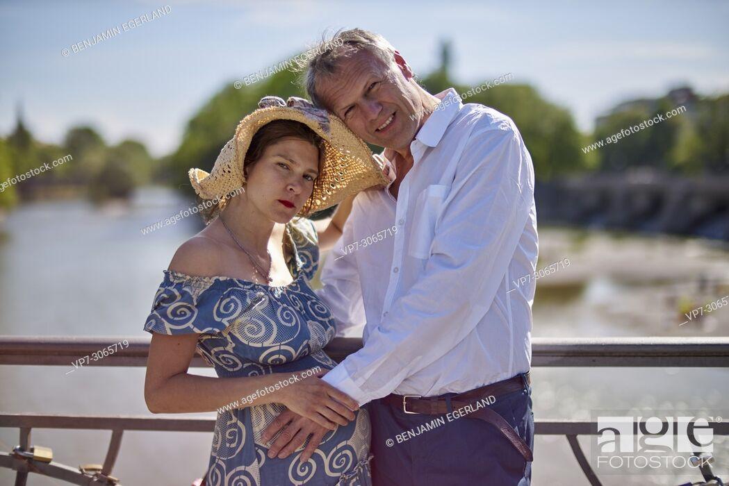 Stock Photo: Couple, pregnancy. Munich, Germany.