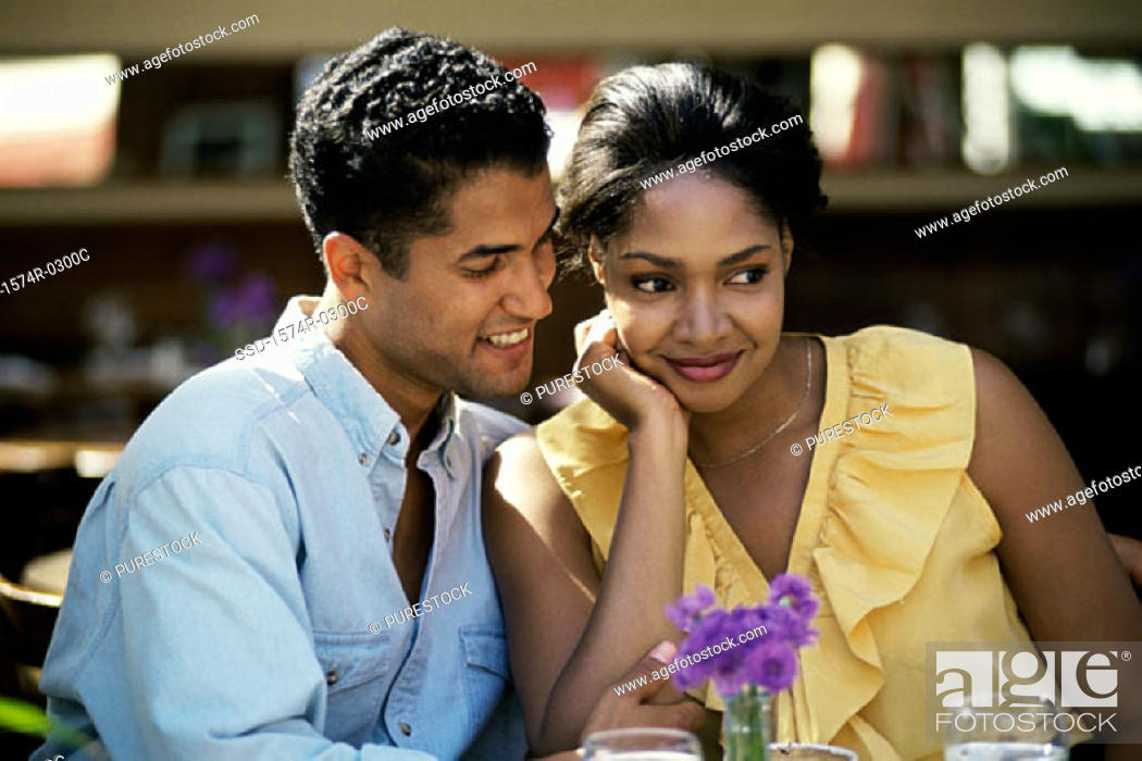 Stock Photo: Young couple together.