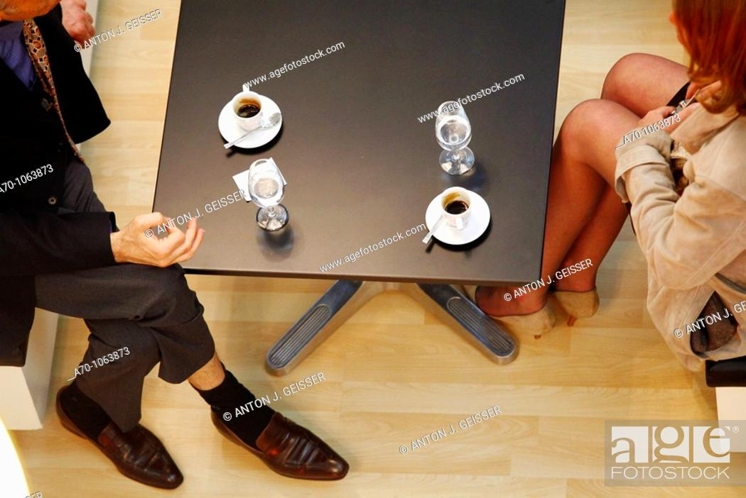 Stock Photo: Date with a businessman and a women.