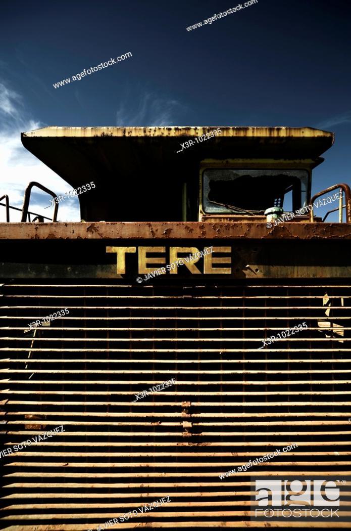 Stock Photo: Iron monster, impressive mine trucks.