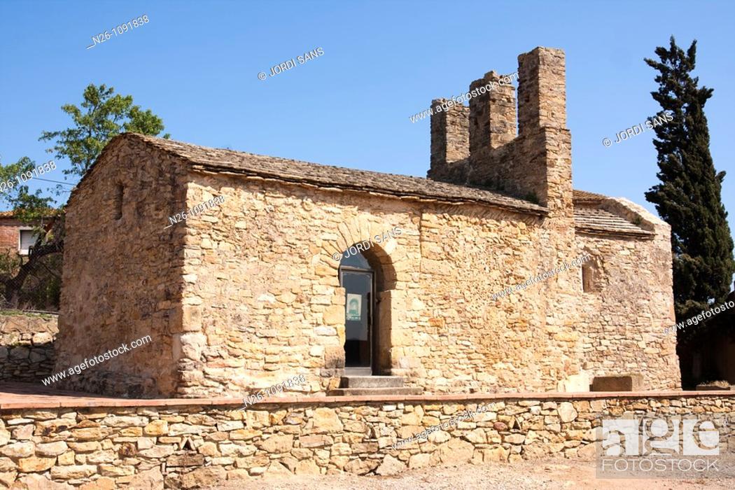 Stock Photo: Iglesia de Sant Julià de Boada  Prerrománica  Mozárabe  Siglo X  España, Catalunya, provincia de Girona, Baix Empordà, Palau-sator.