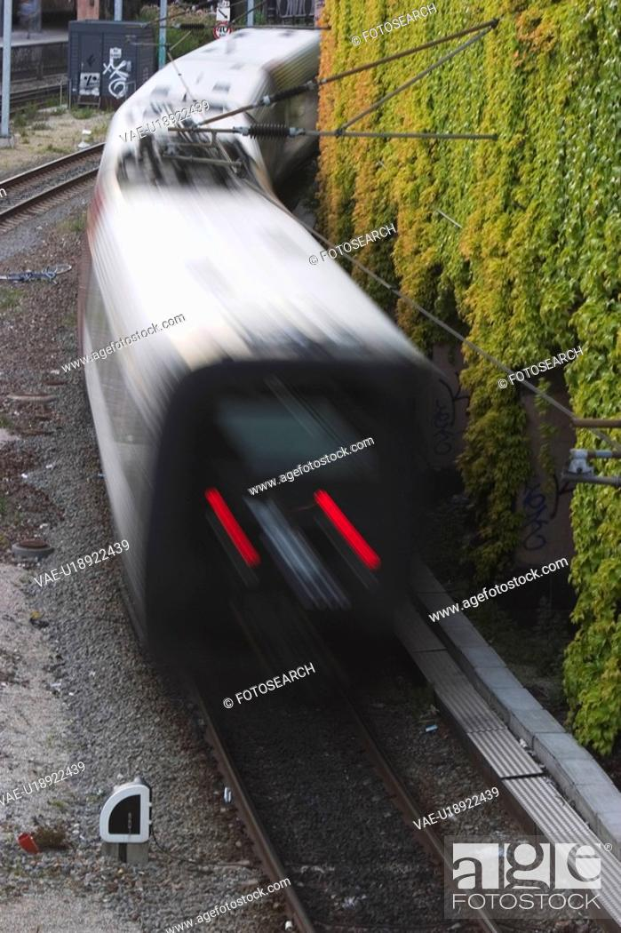 Stock Photo: Commuter, Compartment, Conveyance, Day, Electric Train.