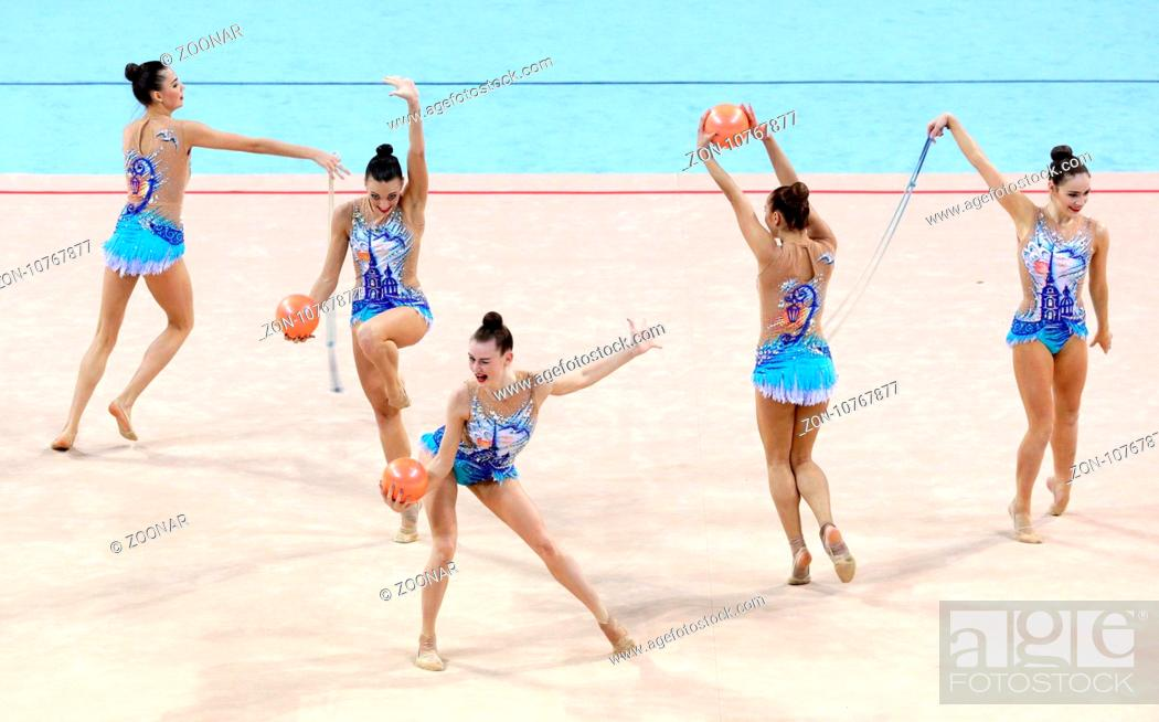 Team Russia Rhythmic Gymnastics, Stock Photo, Picture And Rights