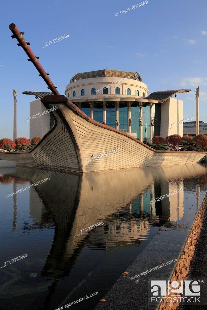 Imagen: Hungary, Budapest, National Theatre, Bajor Gizi Park, .