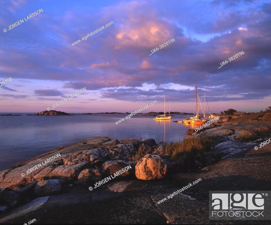 Stock Photo: Sandhamn Stockholm Sweden Sverige.