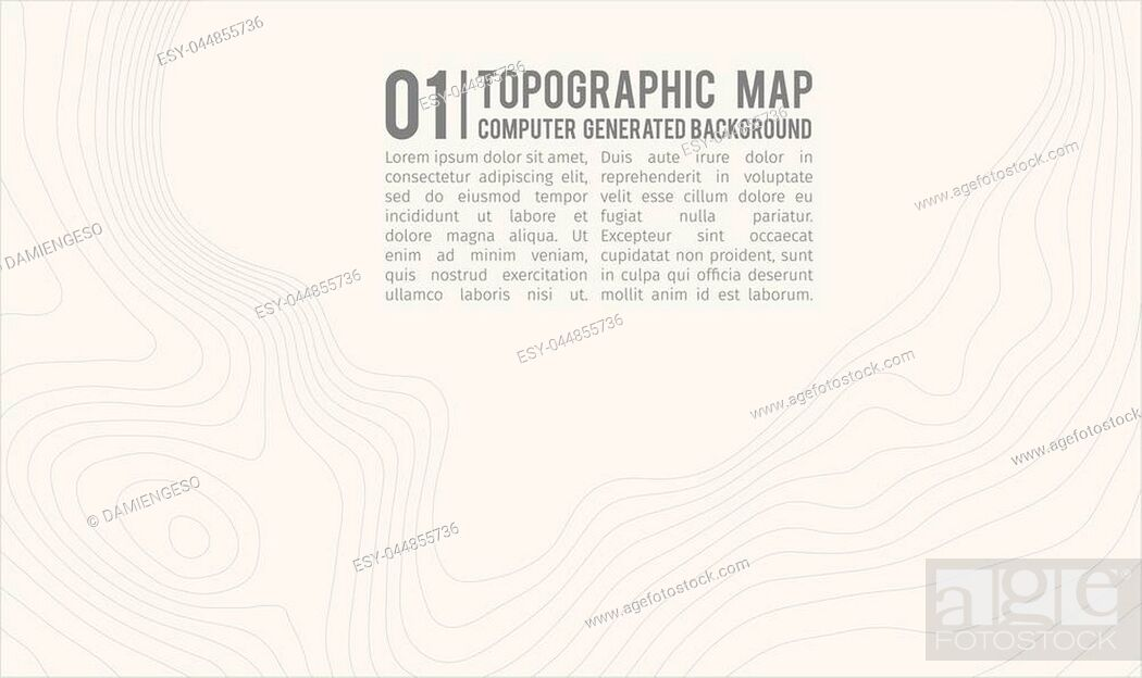 Stock Vector: Topographic map background with space for copy . Line topography map contour background , geographic grid abstract vector illustration.