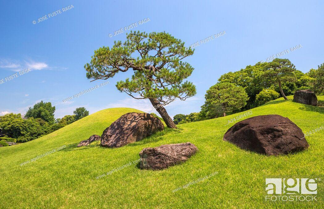 Stock Photo: Japan, Kyushu Island, Kumamoto City, Suizenji Garden.