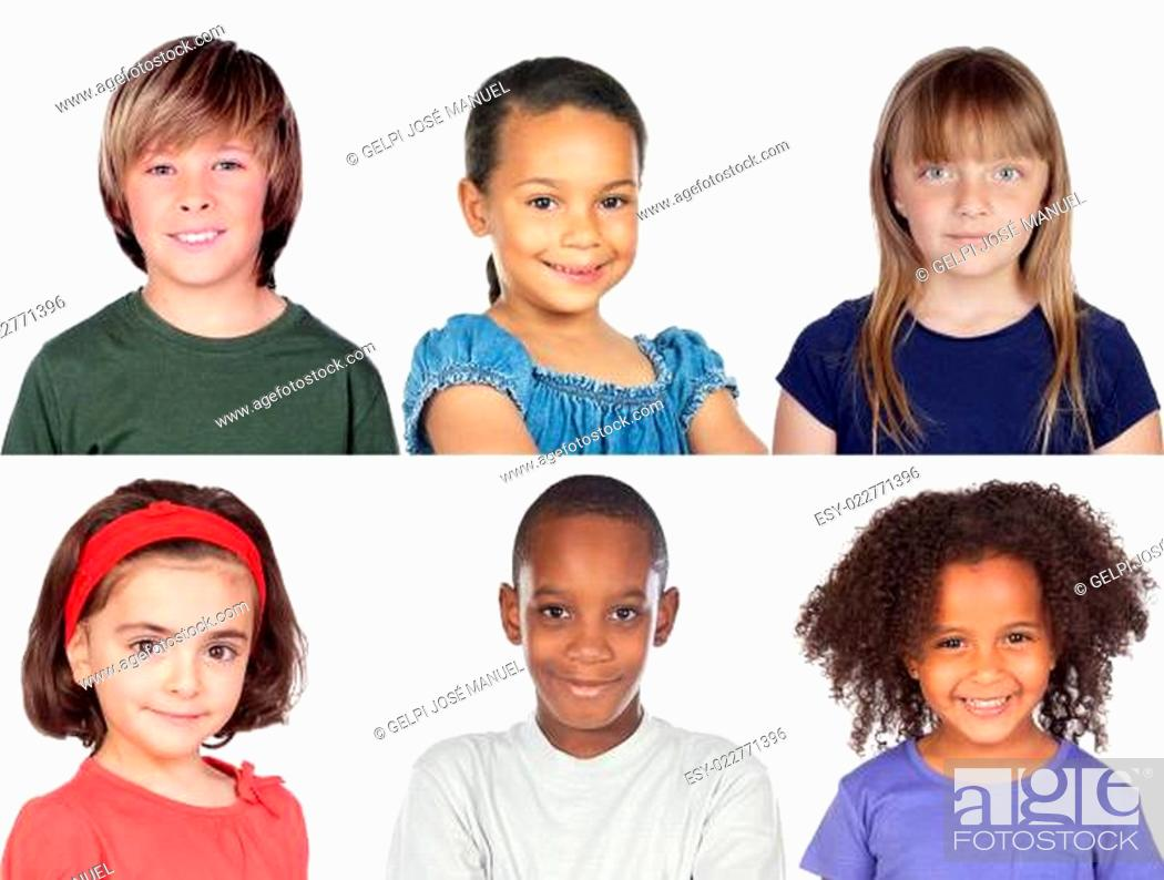 Stock Photo: Photo collage of children.