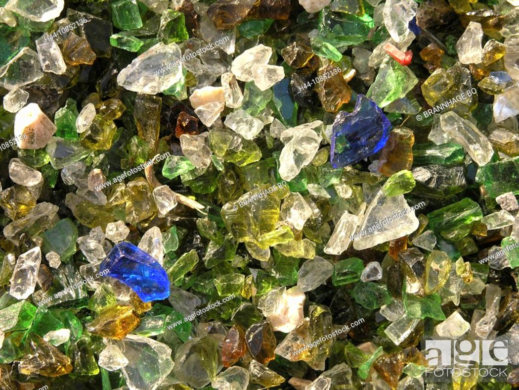 Stock Photo: 10852136, Cullet, glass, colors, colorful, colourf.