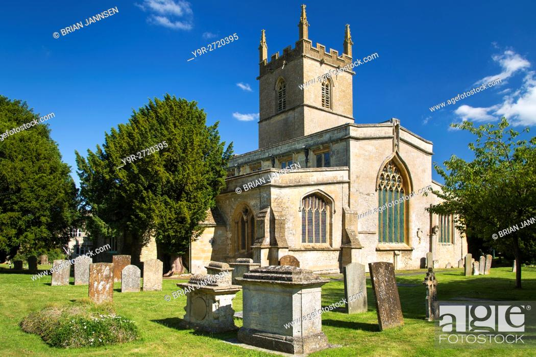 Stock Photo: Saint Edwards Parish Church, Stow-on-the-Wold, Gloucestershire, England.