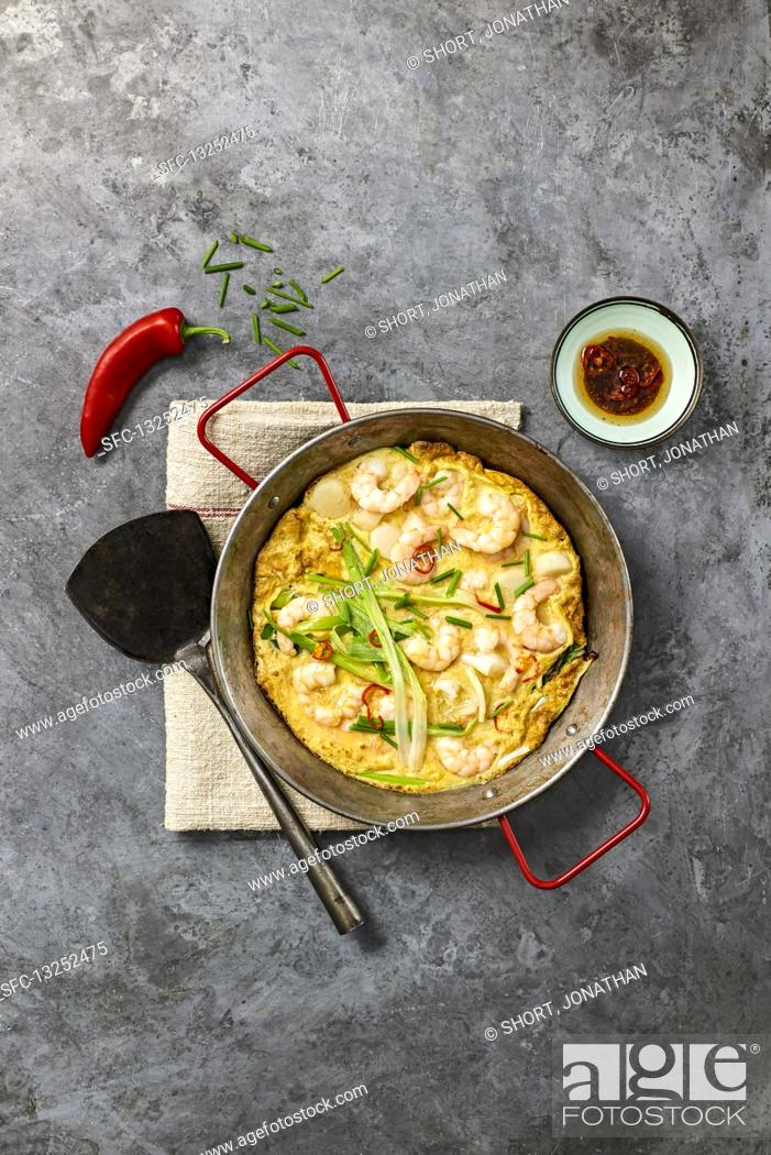 Imagen: Chilli-spiced Seafood Pancake.