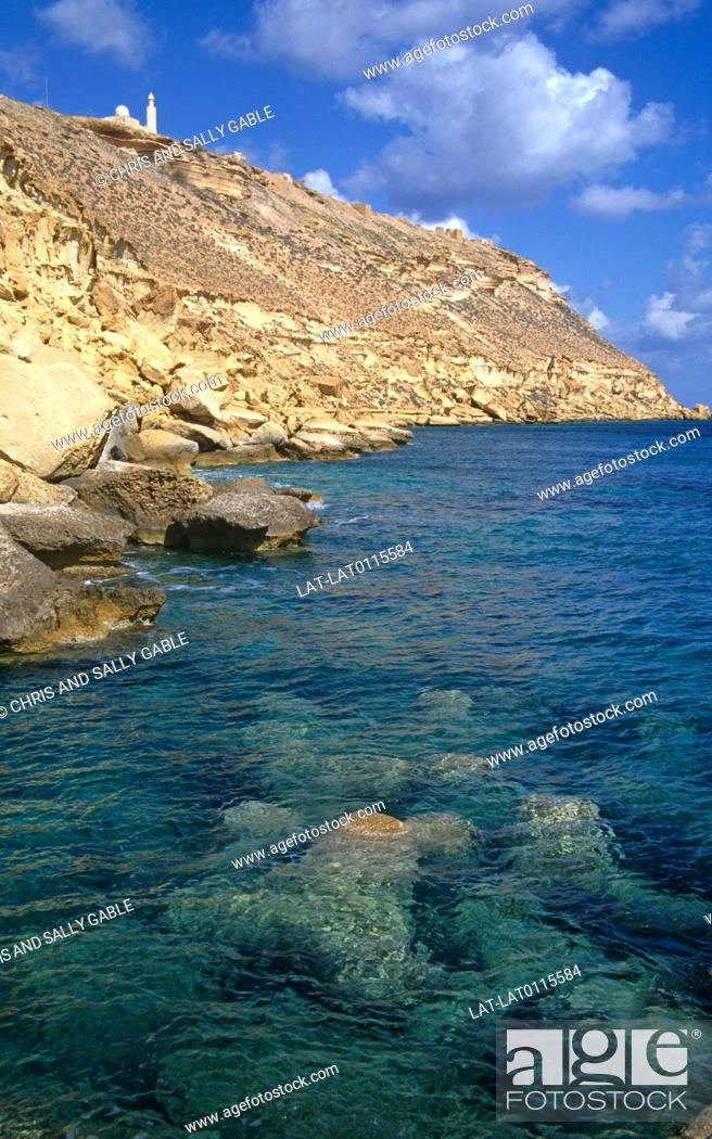 Stock Photo: Bardia is a seaport, which was the scene of an Italian fortified position in the Second World War.