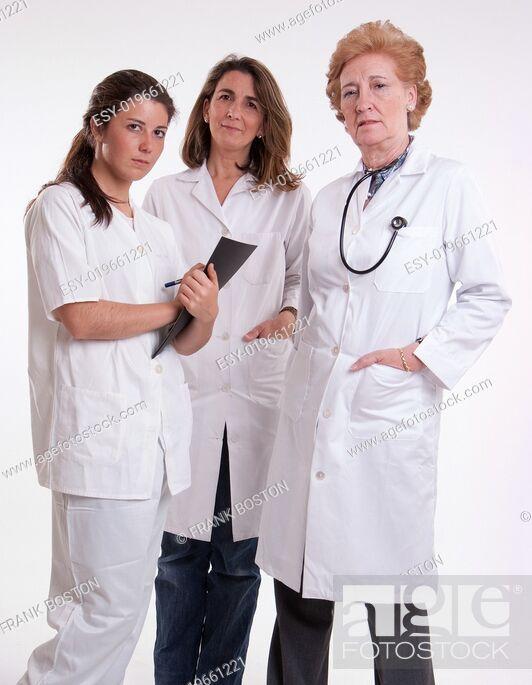Stock Photo: Female medical team.