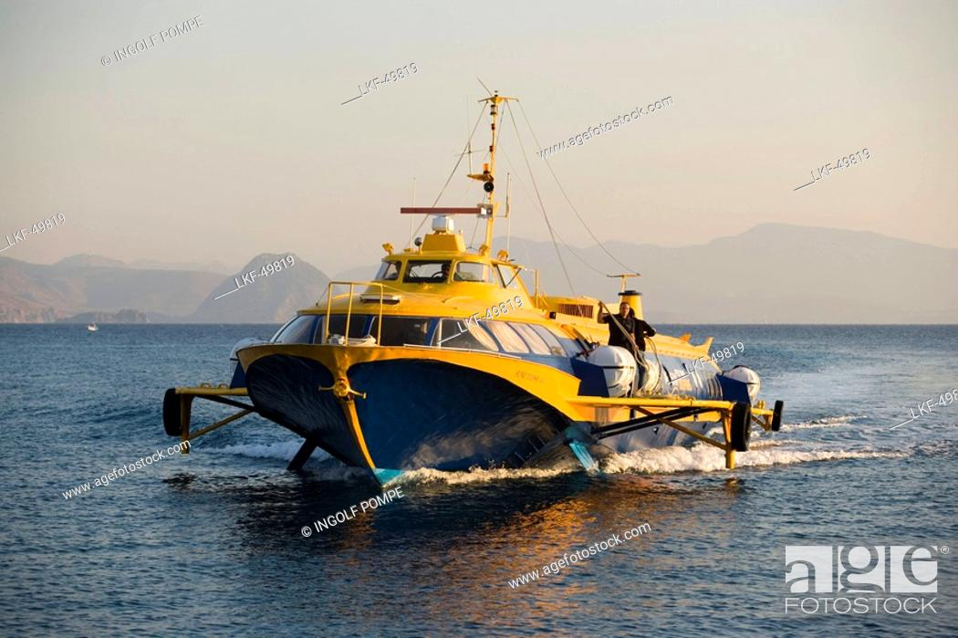 Hydrofoil Ferry To Bodrum Kos Town Kos Greece Stock Photo Picture And Rights Managed Image Pic Lkf 49819 Agefotostock
