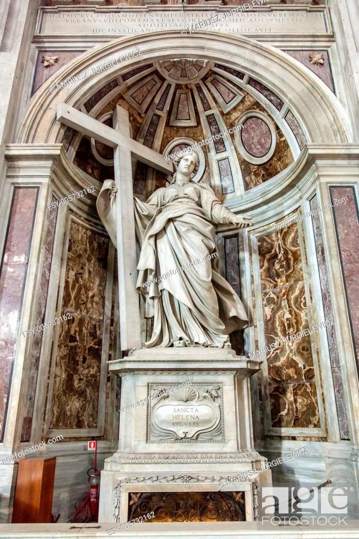 Stock Photo: Shrine to Saint Helena in St. Peter's Basilica.
