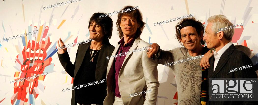 The members of the English rock band The Rolling Stones