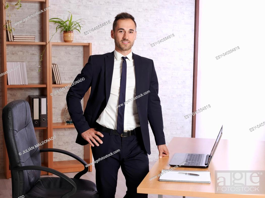 Stock Photo: businessman satisfied in his work.