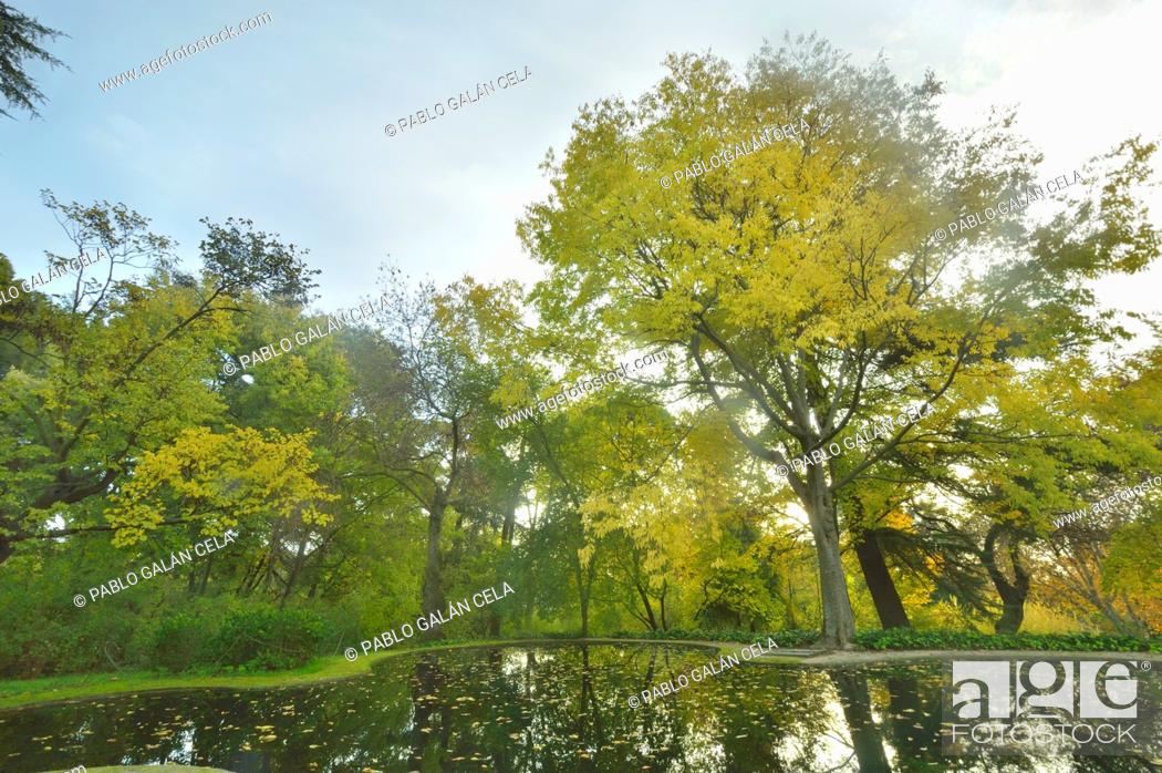 Stock Photo: El Capricho park, Alameda de Osuna, Madrid, Spain.
