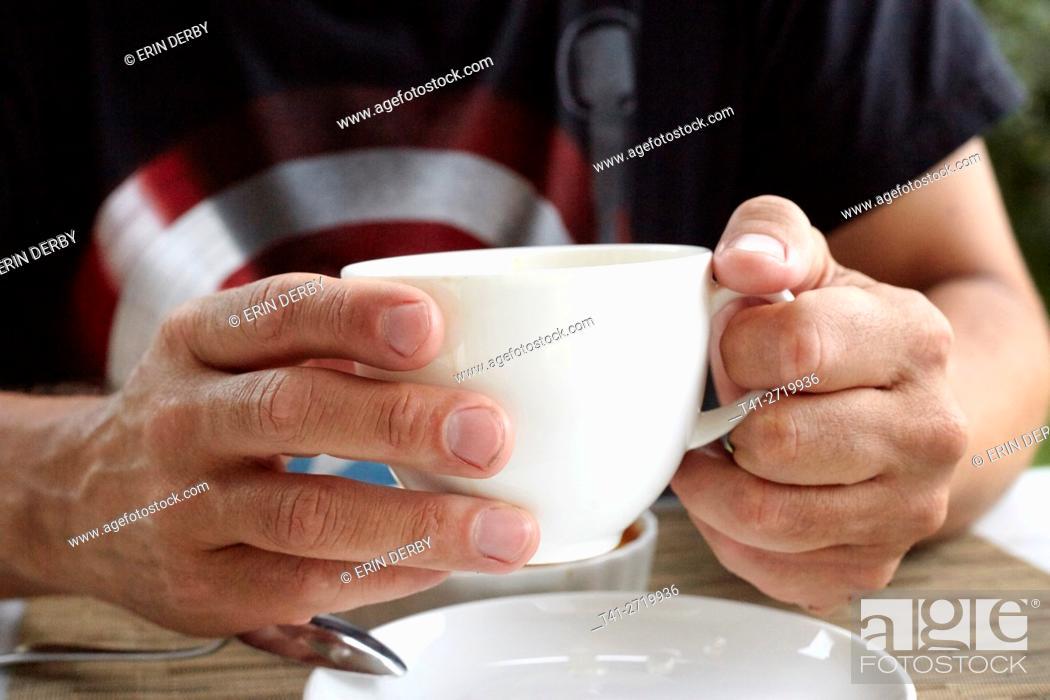 Stock Photo: Man with Coffee.