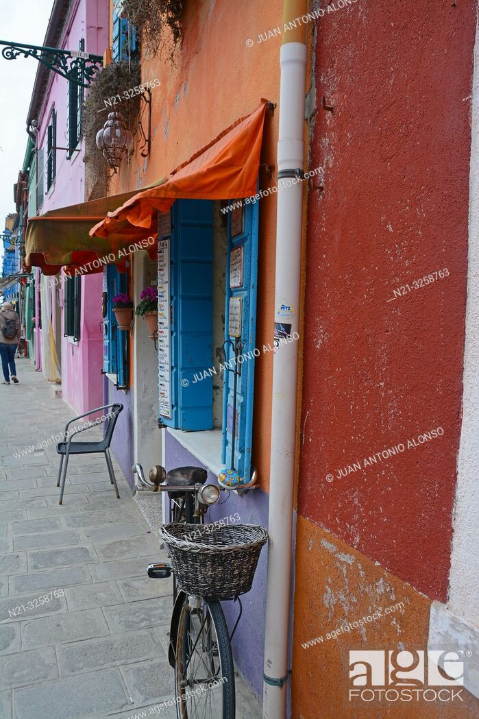 Stock Photo: Burano, Venice, Veneto, Italy.