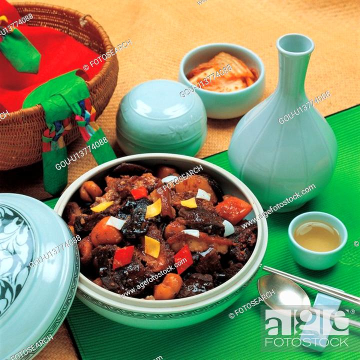 Stock Photo: tchim, cuisine, smothered dish, korean cuisine, korean food, food.