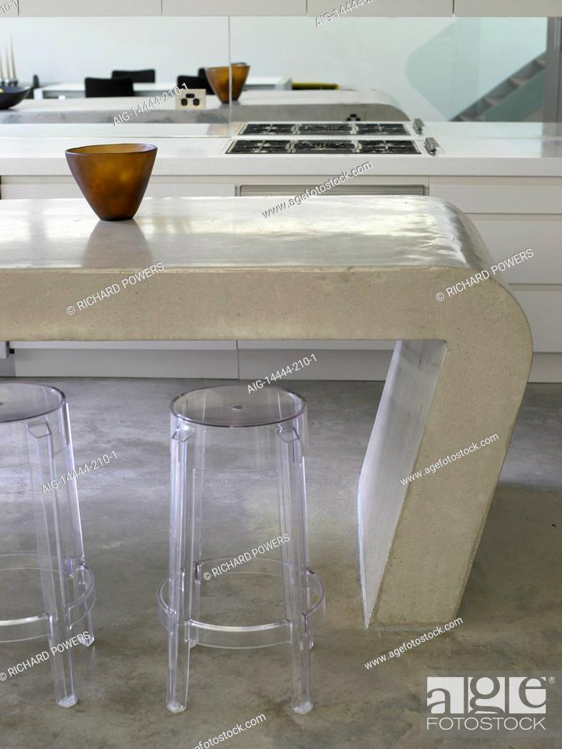 Marvelous Bar Stools At Breakfast Bar In Kitchen In Australian Home Machost Co Dining Chair Design Ideas Machostcouk